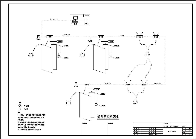 某地17层医院智能化控制系统工程图纸图片1
