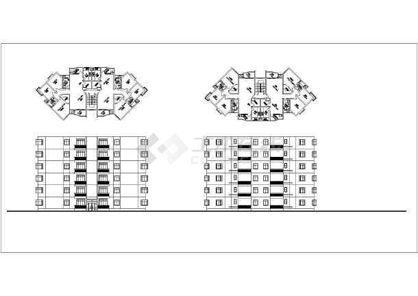 点击查看住宅户型平、立面图(含建筑面积)第1张大图