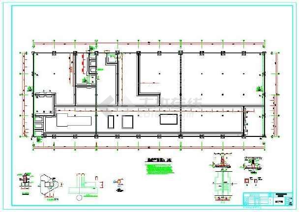 植筋技术运用的工业厂房部分结构图-图2