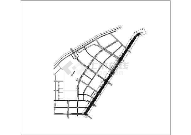 某城市街道道路及隧道给排水设计图-图一
