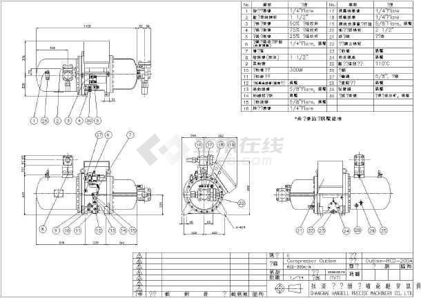 上海汉钟螺杆式压缩机外形设计图形-图2