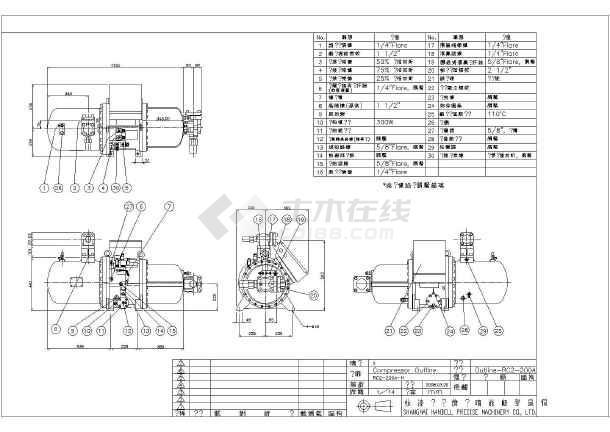 上海汉钟螺杆式压缩机外形设计图形-图3