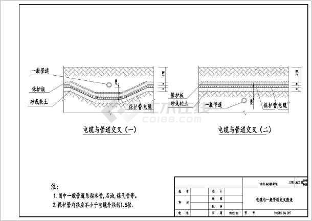 电缆沟电缆井施工图图片
