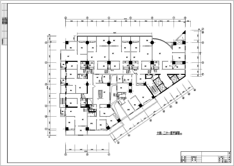 【江苏省】某住宅十四-二十一层平面图纸图片1