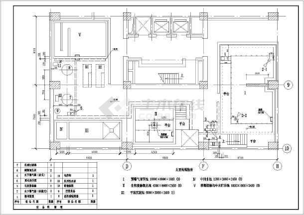 一套13吨生化法中水处理系统图纸-图1