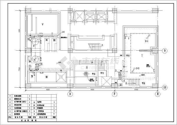 一套13吨生化法中水处理系统图纸-图2