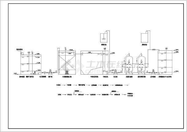 一套13吨生化法中水处理系统图纸-图3