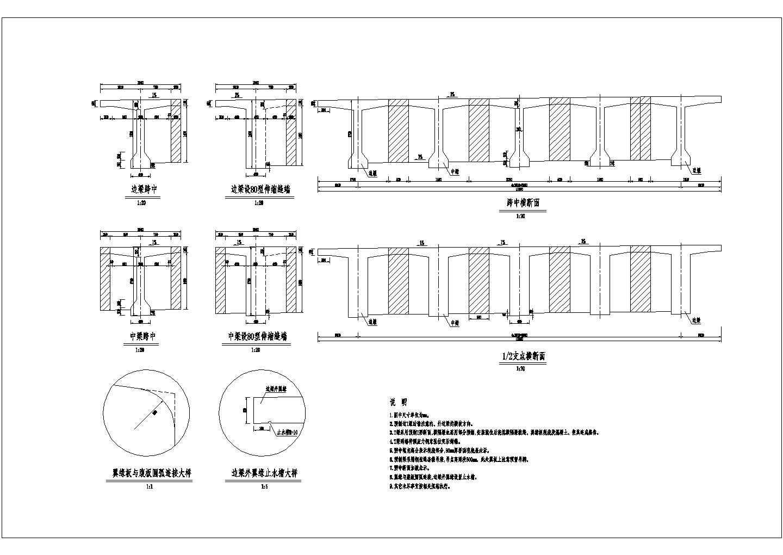 技施阶段某25米一跨T梁结构钢筋图图片1