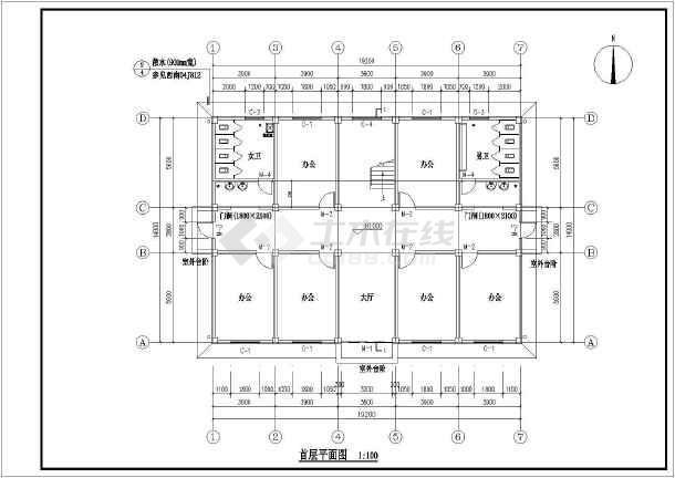 【四川】2层框架结构综合办公楼建筑结构工程造价教学设计-图2