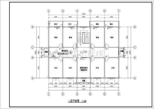 【四川】2层框架结构综合办公楼建筑结构工程造价教学设计-图3
