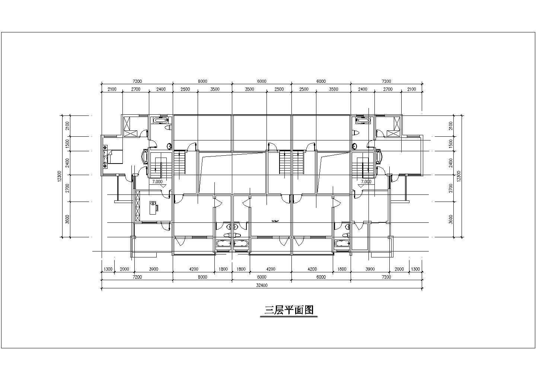 某地3层楼联排别墅建筑设计施工图(含透视图)图片1