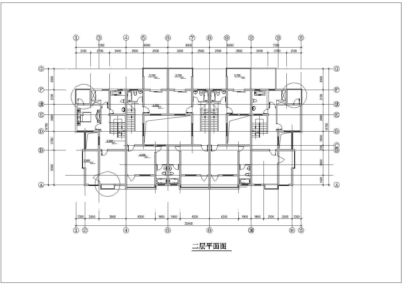 某地3层楼联排别墅建筑设计施工图(含透视图)图片2