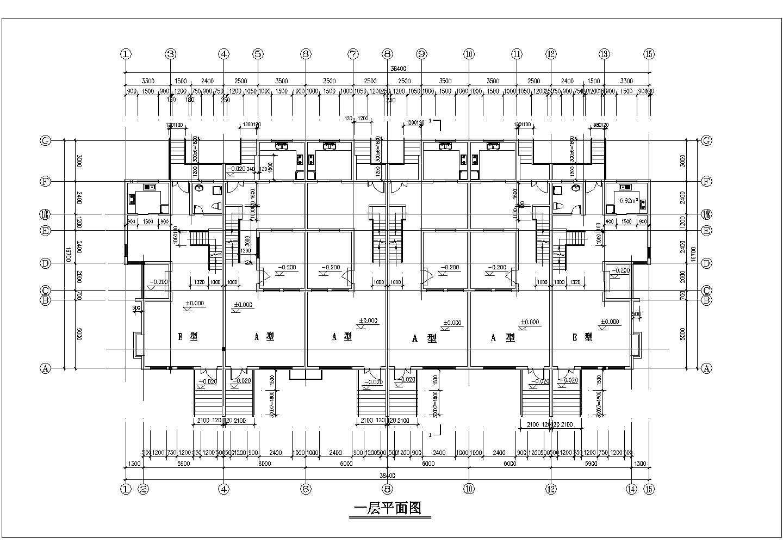 某地3层楼联排别墅建筑设计施工图(含透视图)图片3