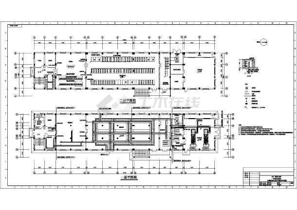 发电机房设计图_[发电机房电气]炼油厂二层总配电所带柴油发电机房电气设计 ...