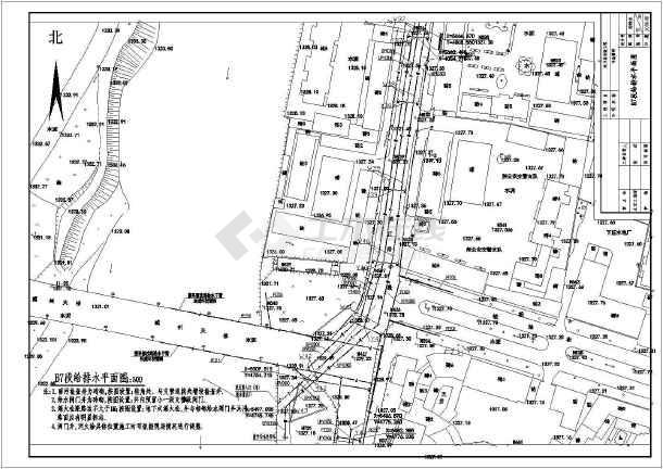 点击查看某市政工程室外道路给排水设计施工图第1张大图