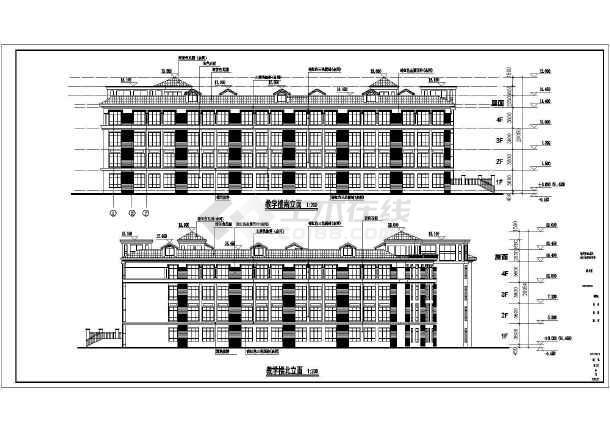 某地区小学教学楼建筑方案设计图纸图片