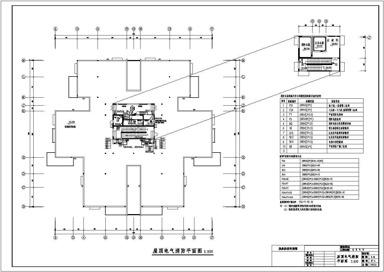 高层住宅消防图纸(含火灾自动报警及消防联动控制系统设计说明)图片1
