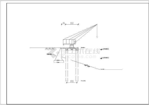 某小型码头挡墙及码头平台面结构钢筋图-图1