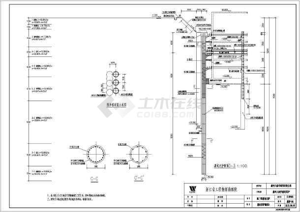 某地区15米深大基坑开挖围护详细施工图纸-图1