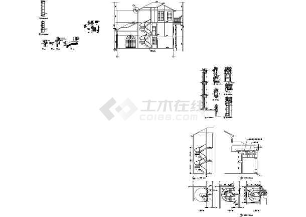 楼梯节点详图图纸(建筑cad图纸)-图二