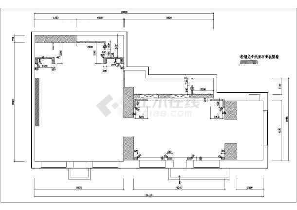 【哈尔滨】某地小区售楼处装修设计施工图纸-图2