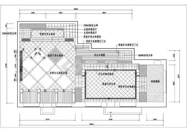 【哈尔滨】某地小区售楼处装修设计施工图纸-图3