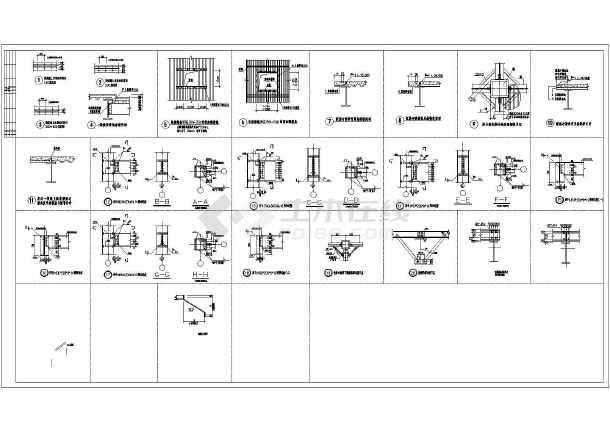 某地带夹层钢结构厂房图纸-图1