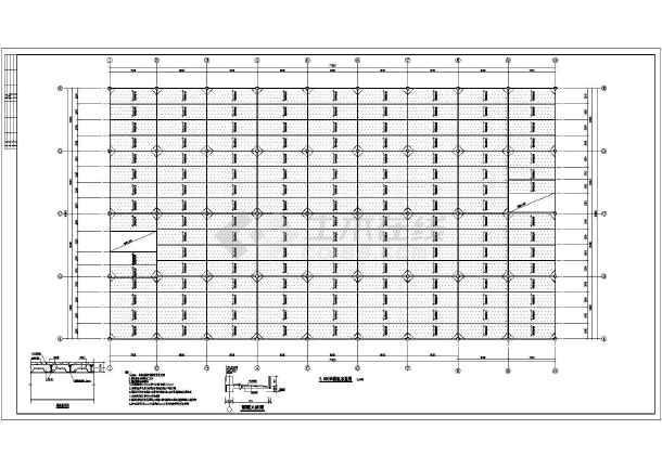 某地带夹层钢结构厂房图纸-图2