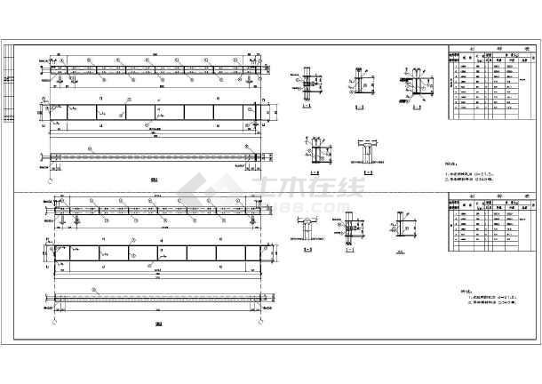 某地带夹层钢结构厂房图纸-图3