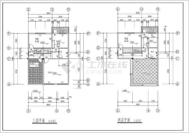 某地四层农村自建房建筑设计施工图-图1