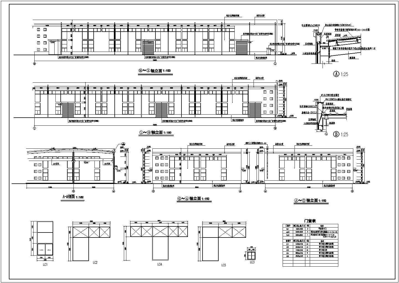 某厂区建筑设计图纸(附效果图、鸟瞰透视图)图片2