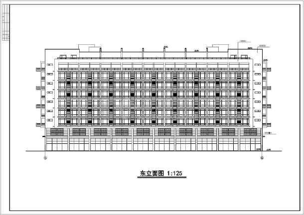 点击查看小高层单身公寓方案图(含建筑面积)第1张大图
