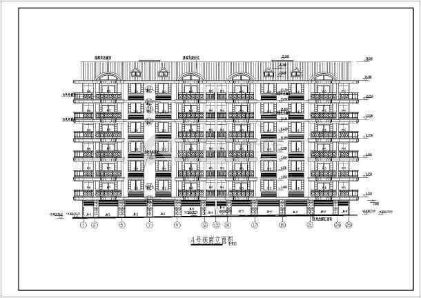 某小区多层住宅设计图纸 (全集)-图1