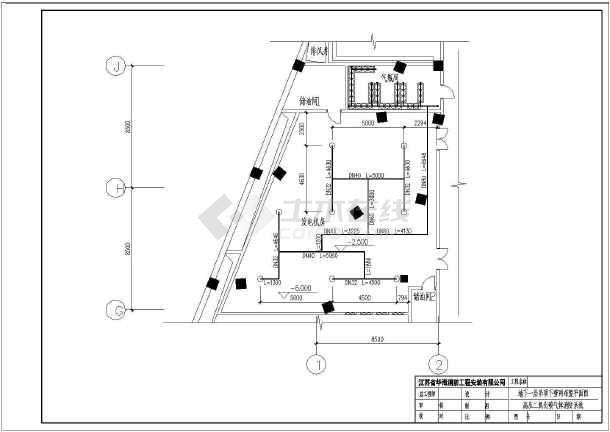 发电机房设计图_【气体灭火系统】某地发电机房二氧化碳气体灭火系统设计图_cad ...