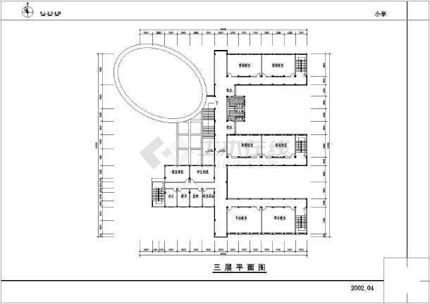 长沙某三层小学教学楼建筑设计方案图纸图片