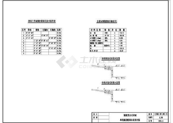 双线和单线隧道围幕注浆工法设计施工图-图3