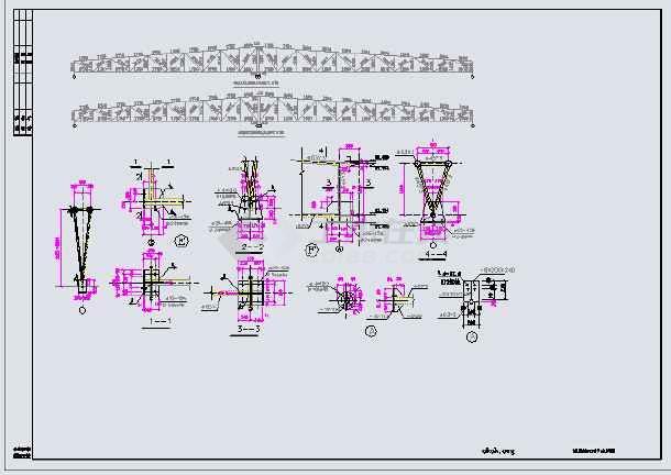 某重钢结构容器车间全套图纸-图1