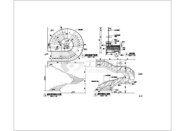 某房屋用的旋转楼梯结构图-图1