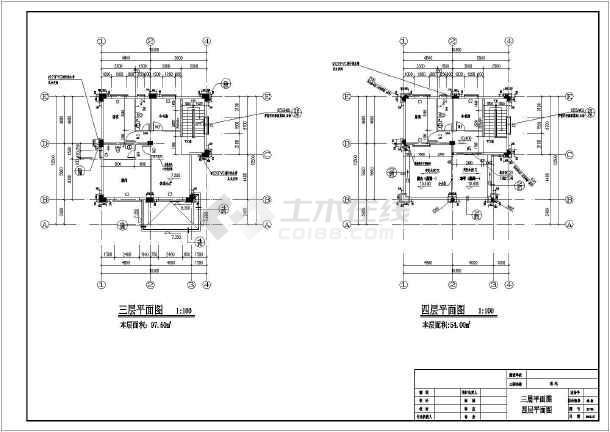 某地区斜屋面别墅(人工挖孔桩,异形柱结构)-图2