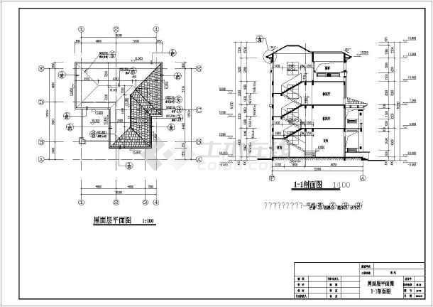 某地区斜屋面别墅(人工挖孔桩,异形柱结构)-图3