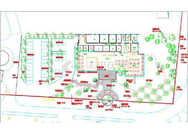 【青岛】某房地产售楼处周边景观设计施工图-图1