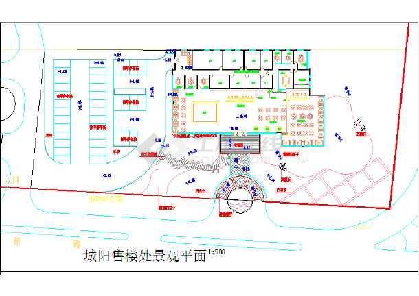 【青岛】某房地产售楼处周边景观设计施工图-图2