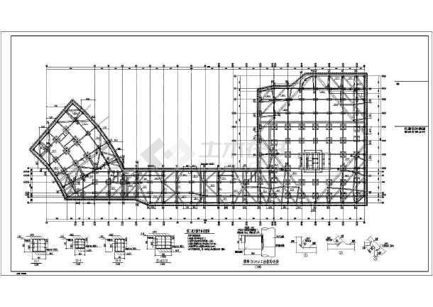 SMW工法两层地下室基坑围护完整施工图-图2