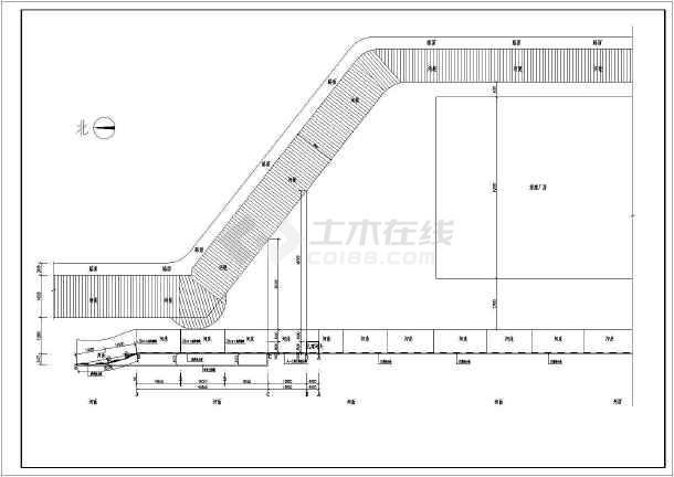 点击查看某河边重力式挡土墙全套完整施工图第1张大图