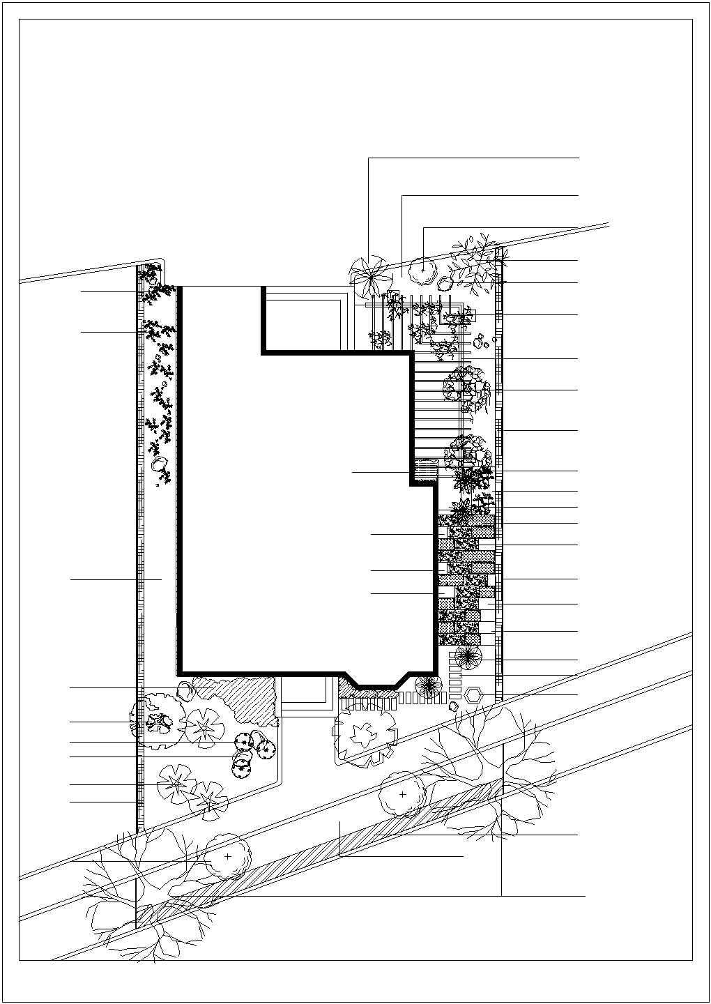 某地区别墅景观绿化设计平面施工图图片1