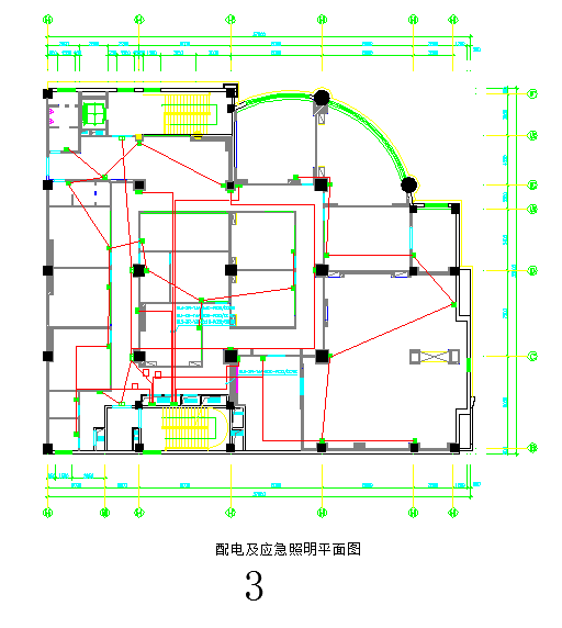 中南世界城大厦办公楼电气照明施工图图片3