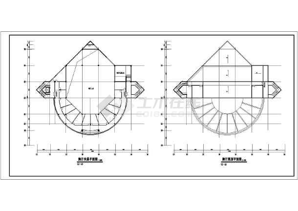 某高档酒店建筑方案图(共18张)-图1