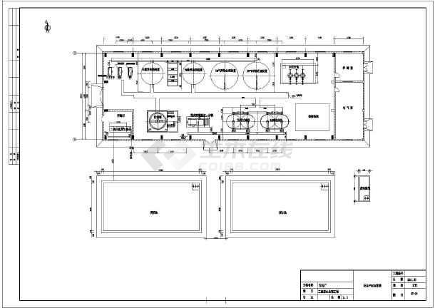 某发电厂工业废水处理工艺流程图平面图系统图-图二