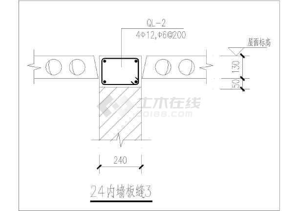 砖混结构工程构造节点整套CAD大样图纸-图1