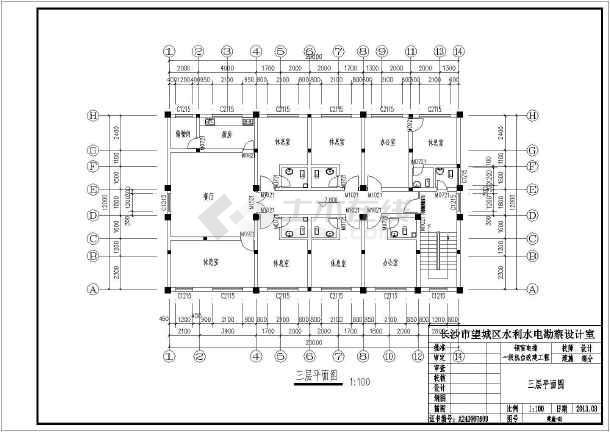 湖南地区某工程造价结算资料全套及施工图-图2